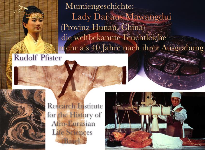 (Titelbild) Mumiengeschichte - Lady Dai aus Mawangdui (Provinz Hunan, China) – die weltbekannte Feuchtleiche mehr als 40 Jahre nach ihrer Ausgrabung (cut)